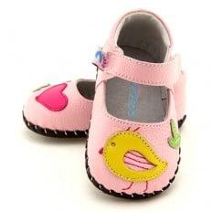 FREYCOO - Zapatos de bebe primeros pasos de cuero niñas | Babies rosa piou-piou