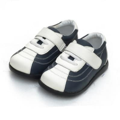 Little Blue Lamb - Soft sole boys Toddler kids baby shoes | Dark blue Basket
