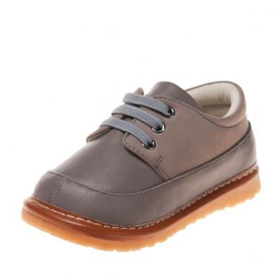 Little Blue Lamb - Zapatos de cuero chirriantes - squeaky shoes niños | Zapatillas de deporte gris