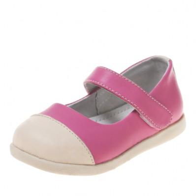 Little Blue Lamb - Zapatos de suela de goma blanda niñas | Rosa y blanca