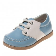 Little Blue Lamb - Soft sole boys Toddler kids baby shoes   Blue and white boat