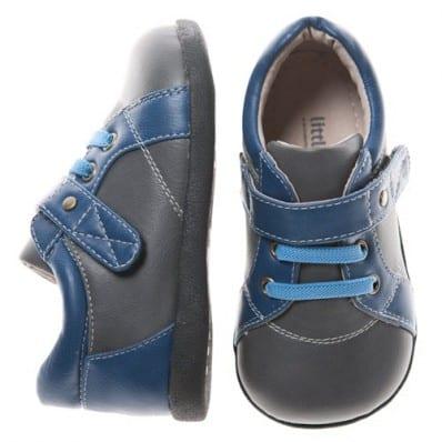 Little Blue Lamb - Chaussures semelle souple | Bleue grise