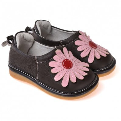 caroch chaussures sifflet babies noires grosse fleur. Black Bedroom Furniture Sets. Home Design Ideas