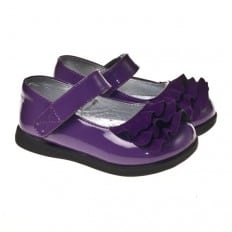 Little Blue Lamb - Soft sole girls Toddler kids baby shoes | Brillant purple