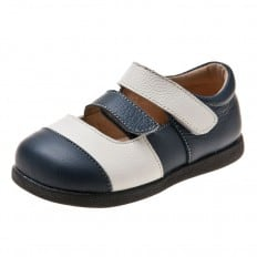 Little Blue Lamb - Zapatos de suela de goma blanda niñas | Sandalias blancas y azules