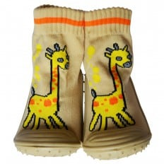 Baby boys girls Socks shoes with grippy rubber | Giraffe
