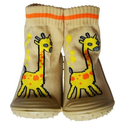 Chaussons-chaussettes antidérapants GIRAFE