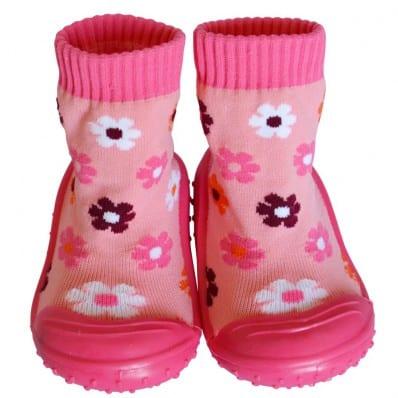 Chaussons-chaussettes antidérapants FLEURS