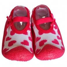 Calcetines con suela antideslizante para niñas | Bailarinas corazones
