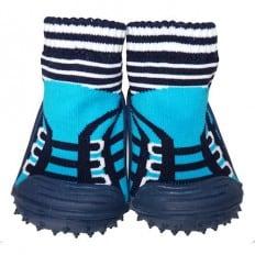 Calcetines con suela antideslizante para niños   Zapatillas de deporte turquesa