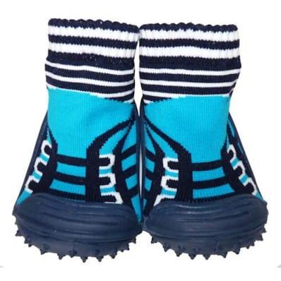Calcetines con suela antideslizante para niños | Zapatillas de deporte turquesa