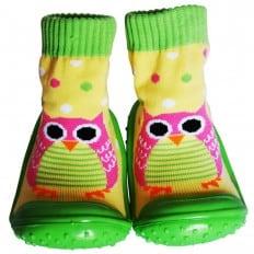 Hausschuhe - Socken Baby Kind geschmeidige Schuhsohle Mädchen Junge | Eule