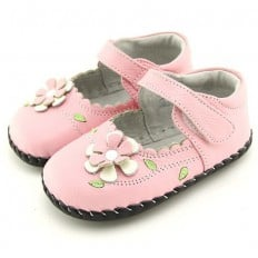 FREYCOO - Chaussures 1er pas cuir souple | Babies rose