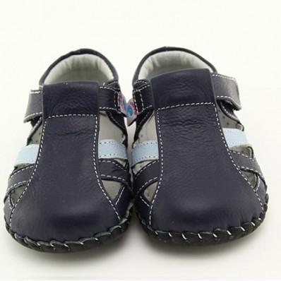 Chaussures bébé premiers pas cuir souple sandales fermées
