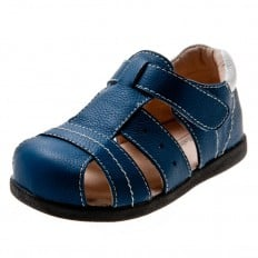 Little Blue Lamb - Soft sole boys Toddler kids baby shoes | Blue sandals