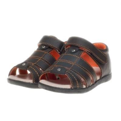 Little Blue Lamb - Chaussures semelle souple   Sandales marron