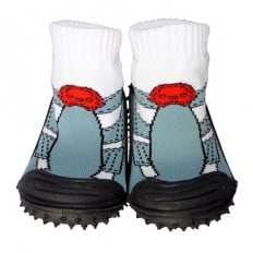 Calcetines con suela antideslizante para niños   Zapatillas de deporte grises