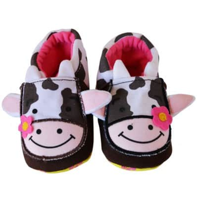 Soft cotton baby girls shoes | Cow