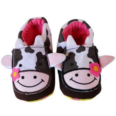 Zapatillas tejido para niños | Vaca