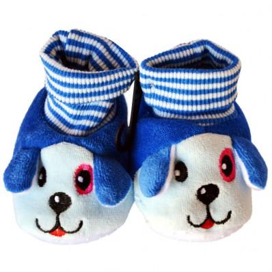 Babyschuhe baumwolle mädchen | Blauer Hund