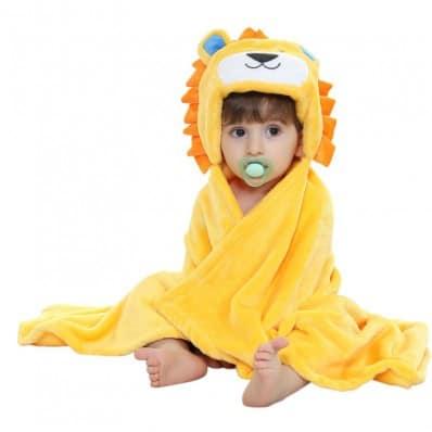 Babydecke polar erstlingsdecke kuscheldecke strickdecke jungen und mädchen   Löwe
