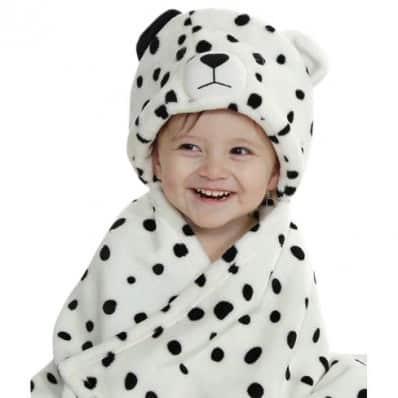Polar baby blanket boys and girls swaddle wrap from newborn   Dalmatian
