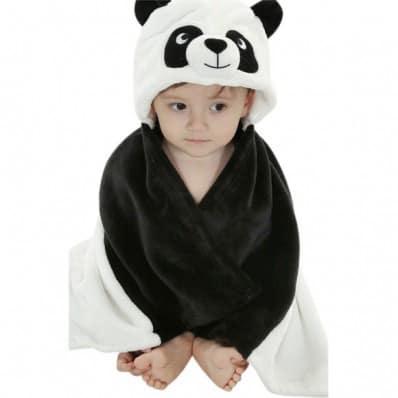 Babydecke polar erstlingsdecke kuscheldecke strickdecke jungen und mädchen | Panda