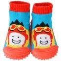 Chaussons-chaussettes enfant antidérapants semelle souple | Aviateur