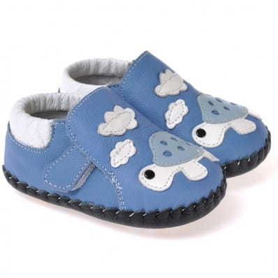 CAROCH - Baby boys first steps soft leather shoes | Turtle