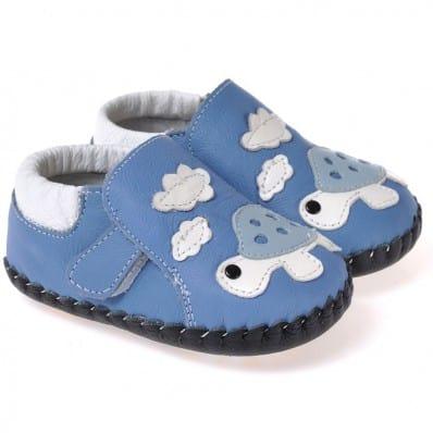 CAROCH - Chaussures 1er pas cuir souple | Tortue C2BB - chaussons, chaussures, chaussettes pour bébé