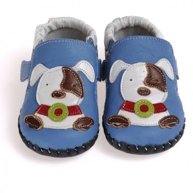 CAROCH - Baby boys first steps soft leather shoes | Small dog