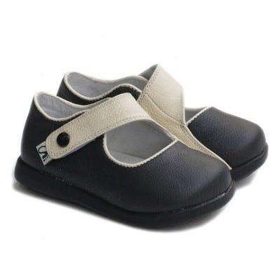 Little Blue Lamb - Zapatos de suela de goma blanda niñas | Castaña beige