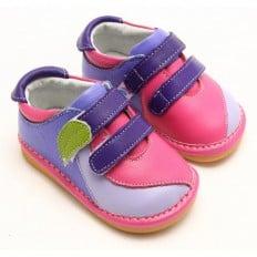 FREYCOO - Zapatos de cuero chirriantes - squeaky shoes niñas | Zapatillas de deporte rosas y azules