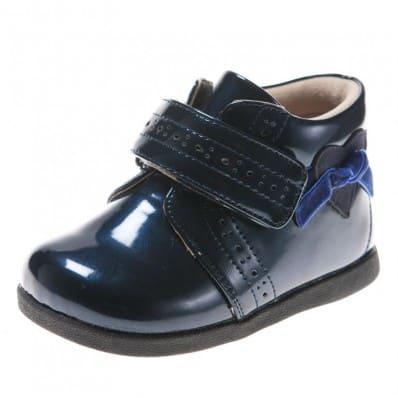 Little Blue Lamb - Chaussures semelle souple | Montante bleues