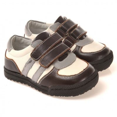 CAROCH - Krabbelschuhe Babyschuhe Leder - Jungen | Braun und beige sneakers