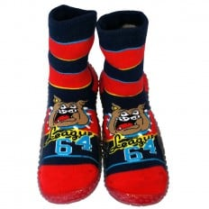 Baby boys Socks shoes with grippy rubber   Bulldog