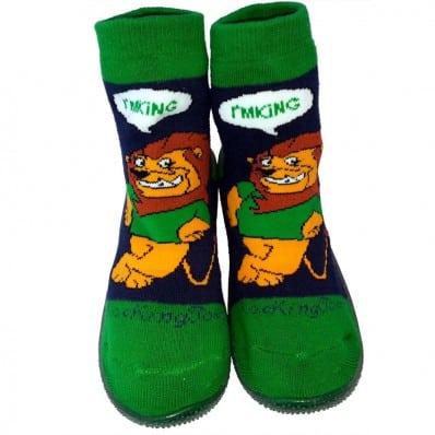 Hausschuhe - Socken Baby Kind geschmeidige Schuhsohle Junge | Löwe