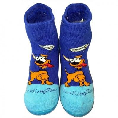 Scarpine calzini antiscivolo bambini - ragazzo   Dog miam blu