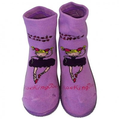 Baby girls Socks shoes with grippy rubber | Dancers