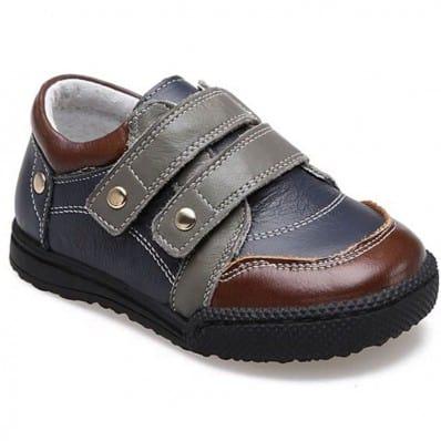 CAROCH - Krabbelschuhe Babyschuhe Leder - Jungen | Grau und marone sneakers