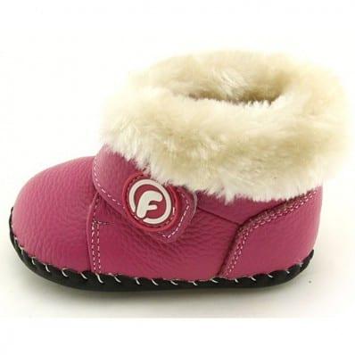 FREYCOO - Zapatos de bebe primeros pasos de cuero niñas  