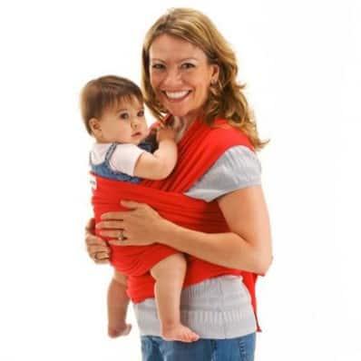 BEBEMOOI - Echarpe de portage - porte bébé coton naturel   Rouge c8c657fdcf9