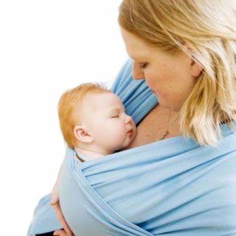 Bebemooi Baby Wrap Sling Carrier Organic Cotton And Elastane Blue