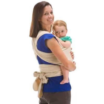 Echarpe de portage/porte bébé coton naturel