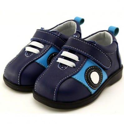 FREYCOO - Krabbelschuhe Babyschuhe Leder - Jungen | Blau sneakers