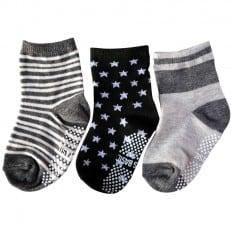 3 paires de chaussettes antidérapantes bébé enfant de 1 à 3 ans | Lot 32