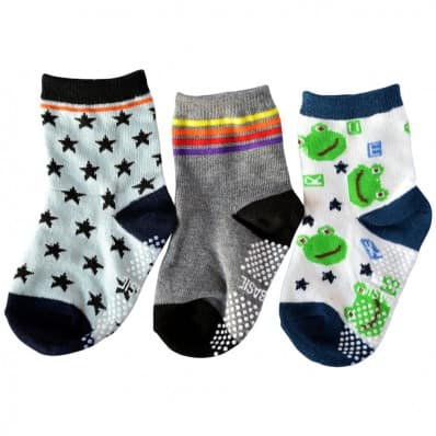 3 pairs of boys anti slip baby socks children from 1 to 3 years old | item 30