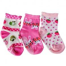 3 paia di calzini antisdrucciolo bambino di 1 a 3 anni | Ragazza 11