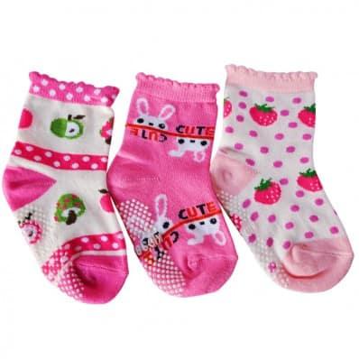 El Lot de 3 calcetines antideslizante para niñas | Lot 11