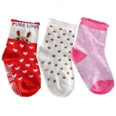 3 pairs of girls anti slip baby socks children from 1 to 3 years old | item 12